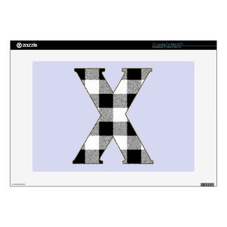 """Gingham Check X Skin For 15"""" Laptop"""