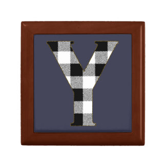Gingham Check Y Jewelry Box