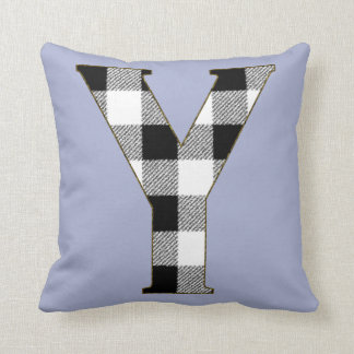 Gingham Check Y Throw Pillow