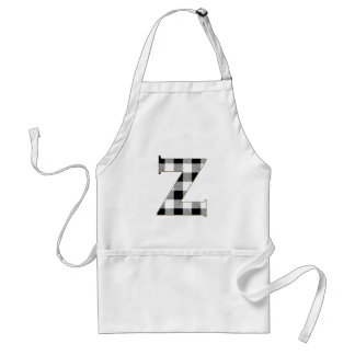 Gingham Check Z Adult Apron