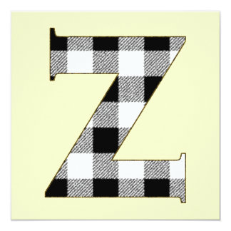 Gingham Check Z Card