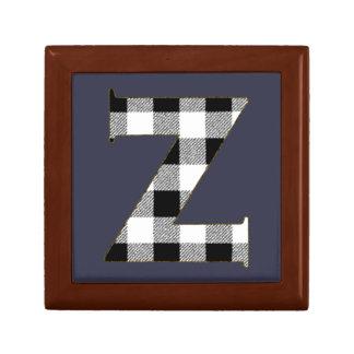 Gingham Check Z Gift Box