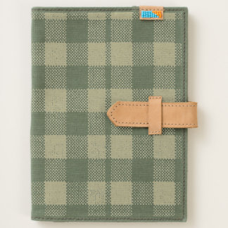 Gingham Checkered Pattern Burlap Look Journal