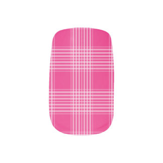 Gingham Checkered Pink and White Minx Nails Minx Nail Wraps