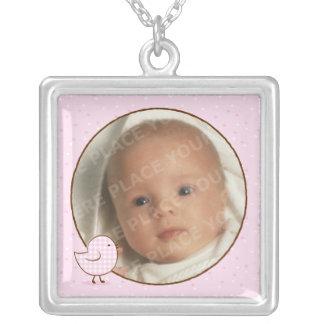 Gingham Chick Photo Keepsake Necklace
