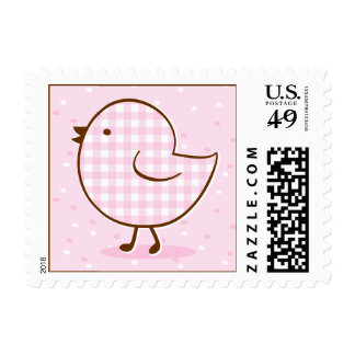 Gingham Chick Postage Stamp
