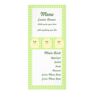 Gingham Chicken Menu Card