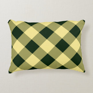Gingham Cloth Decorative Pillow