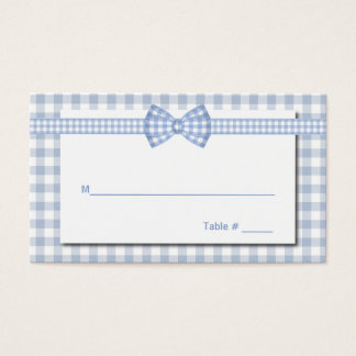 Gingham Country Chic Wedding Place Card