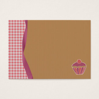 Gingham Cupcake Business Cards