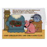 Gingham Dog and Calico Cat Greeting Card