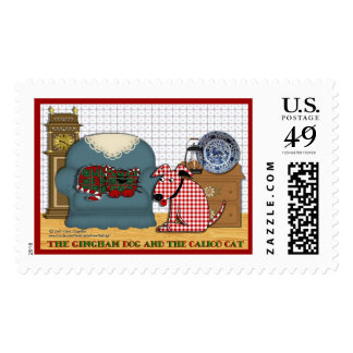 Gingham Dog and Calico Cat Stamp