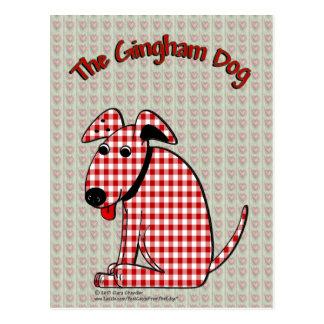 Gingham Dog Postcard