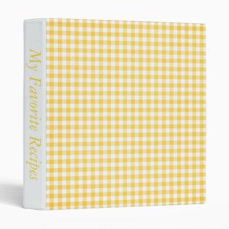 Gingham Dreams Recipe Album Binder