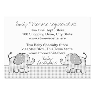 Gingham Elephant Gift Registry Card