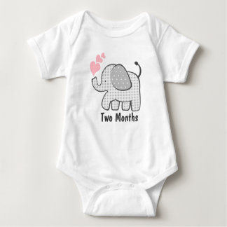 Gingham Elephant Two Months Shirt