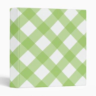 Gingham Green Pattern Binder