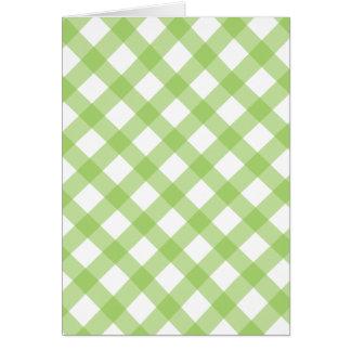 Gingham Green Pattern Card