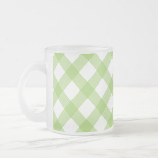 Gingham Green Pattern Coffee Mugs