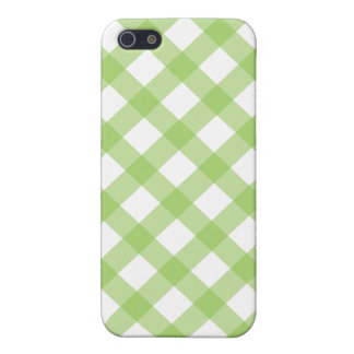 Gingham Green Pattern Covers For iPhone 5