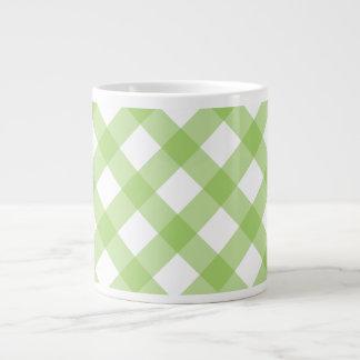 Gingham Green Pattern Extra Large Mugs