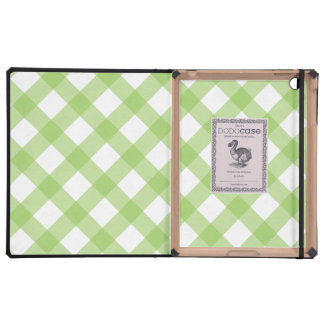 Gingham Green Pattern iPad Cases