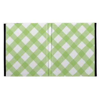 Gingham Green Pattern iPad Folio Case