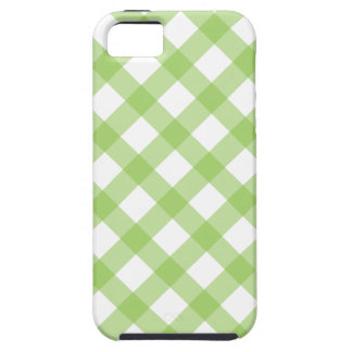 Gingham Green Pattern iPhone 5 Cover