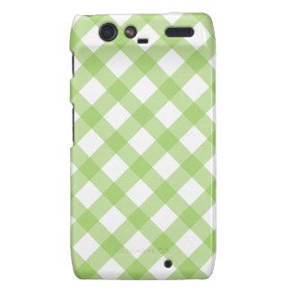 Gingham Green Pattern Motorola Droid RAZR Case