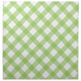 Gingham Green Pattern Napkin