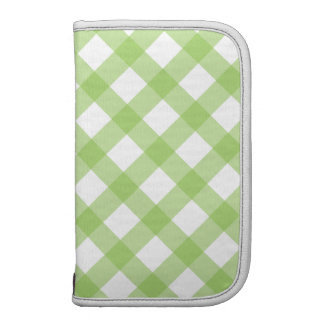 Gingham Green Pattern Planners