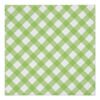 Gingham Green Pattern Posters