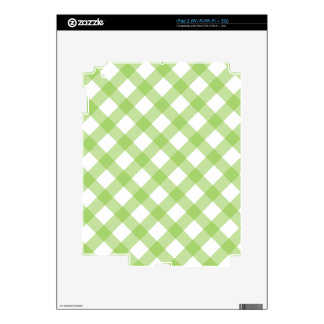 Gingham Green Pattern Skins For The iPad 2