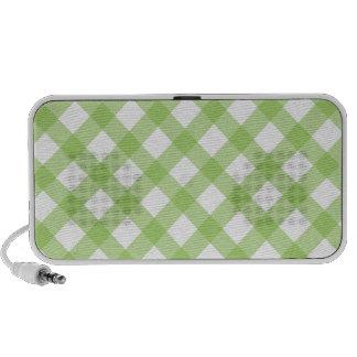 Gingham Green Pattern Travelling Speaker