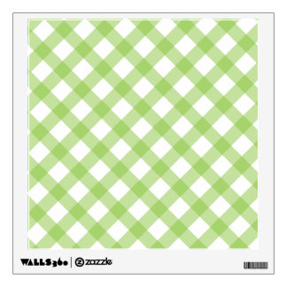 Gingham Green Pattern Wall Decal