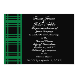 Gingham (Green) Wedding Invitation