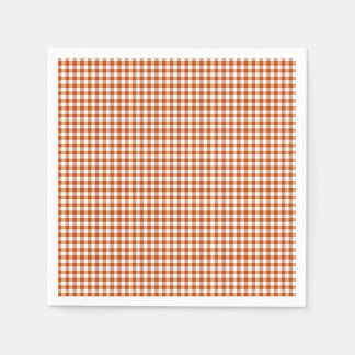 Gingham-Harvest Orange-Paper Napkins