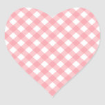 Gingham Heart Stickers