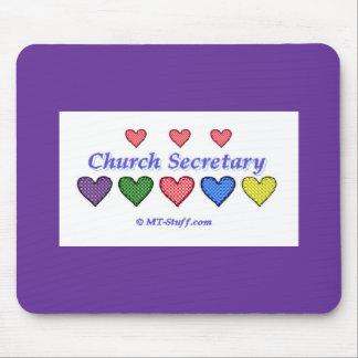 Gingham Hearts Church Secretary Mouse Pad
