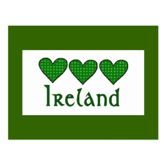Gingham Hearts Ireland Postcard
