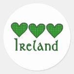 Gingham Hearts Ireland Stickers