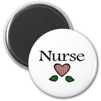 Gingham Hts Red Nurse 2 Inch Round Magnet