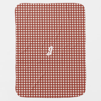 Gingham in Red Swaddle Blanket