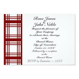 Gingham Ivory (Red) Wedding Invitation