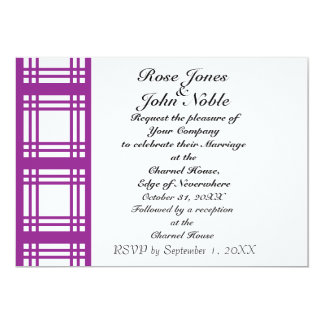Gingham Ivory (Violet) Wedding Invitation