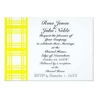 Gingham Ivory (Yellow) Wedding Invitation
