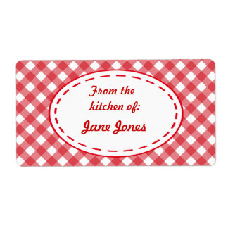 Gingham Kitchen Gift Tags Labels