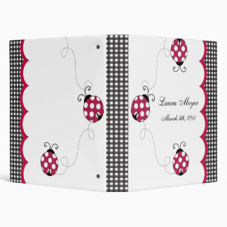 Gingham Ladybug Photo Album Binder