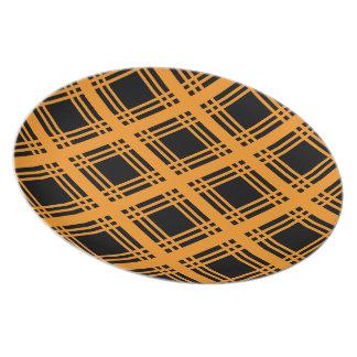 Gingham (Orange) Plate