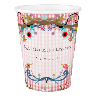 Gingham Paper Cup